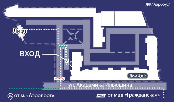 Подробная карта проезда   Москва